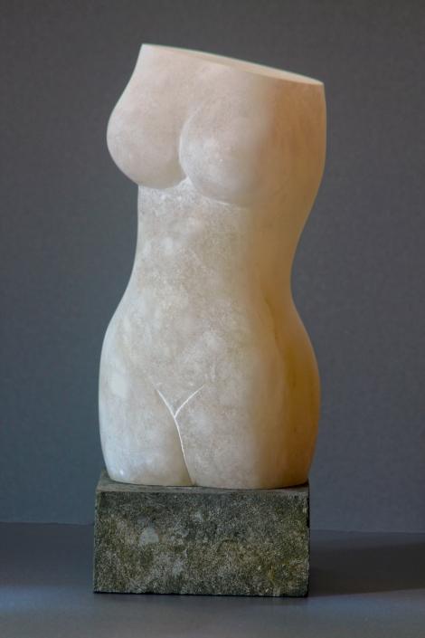 Sculpture of torso carved in Cloud alabaster