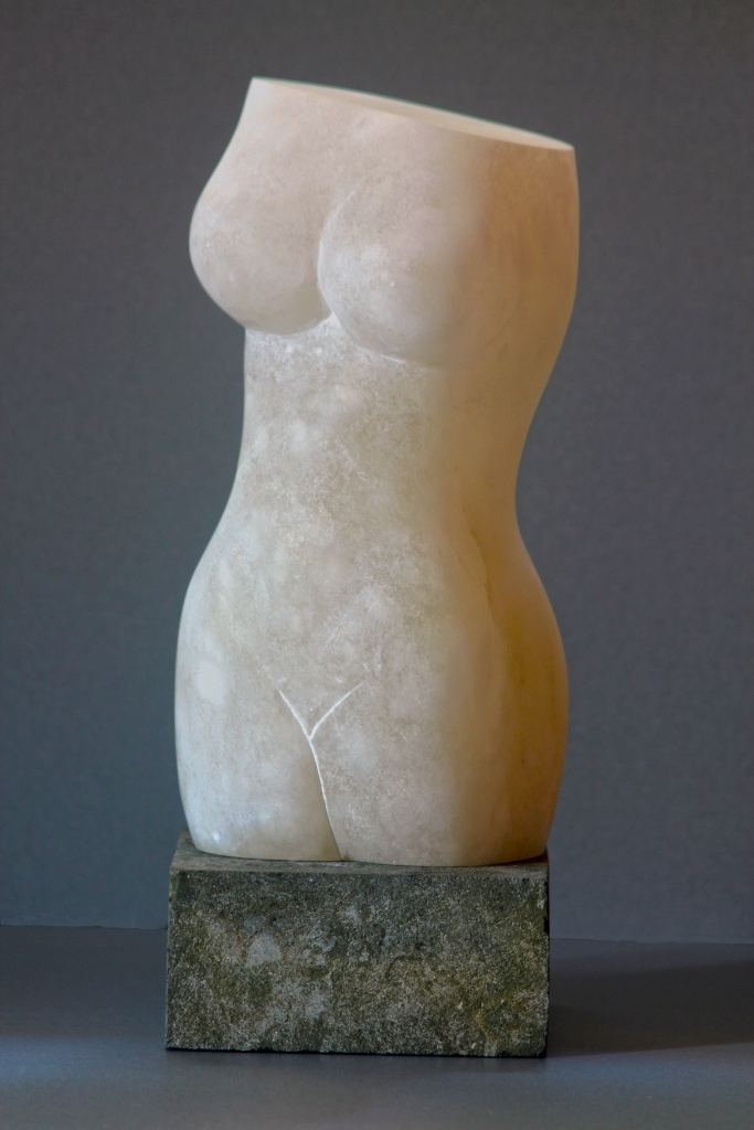 Sculpture of torso carved in Cloud alabaster