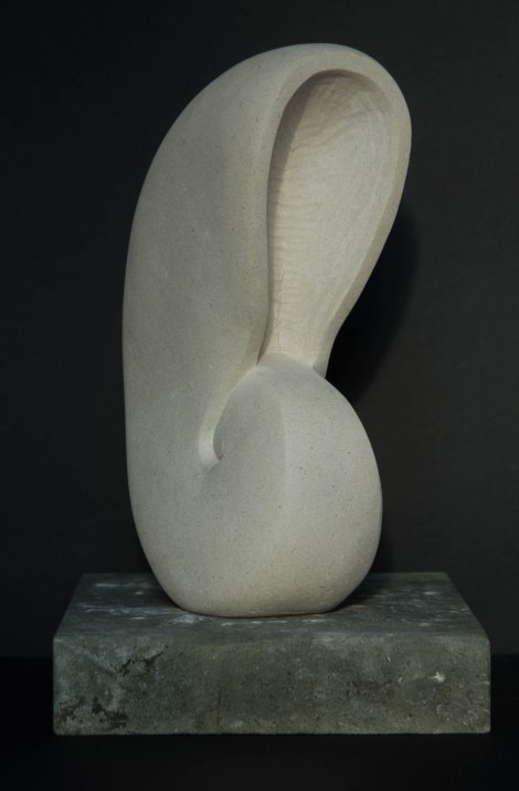 Nautilus shell sculpture: carved in Portland stone