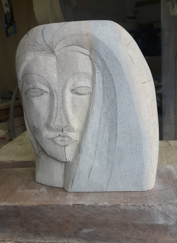 Peter Nava's Ancaster Weatherbed Blue sculpture